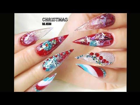 CHRISTMAS NAIL/alex nail art design/NAIL TECHNICIAN-SMILE/THE BEST NAIL ART DESIGN COMPILATION #92