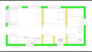 288 Square Foot Tiny House Design