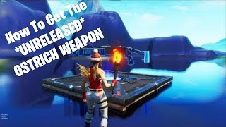 Fortnite: How To Get The *UNRELEASED* OSTRICH WEAPON On Fortnite