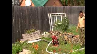 испытание пожарной помпы МП 600