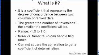 Kendall's tau - Explained Simply + Examples (part 1)