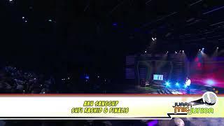 Finalists Juara Mic Junior 2018 singing with Sufie Rashid in Grand Finale - Aku Sanggup