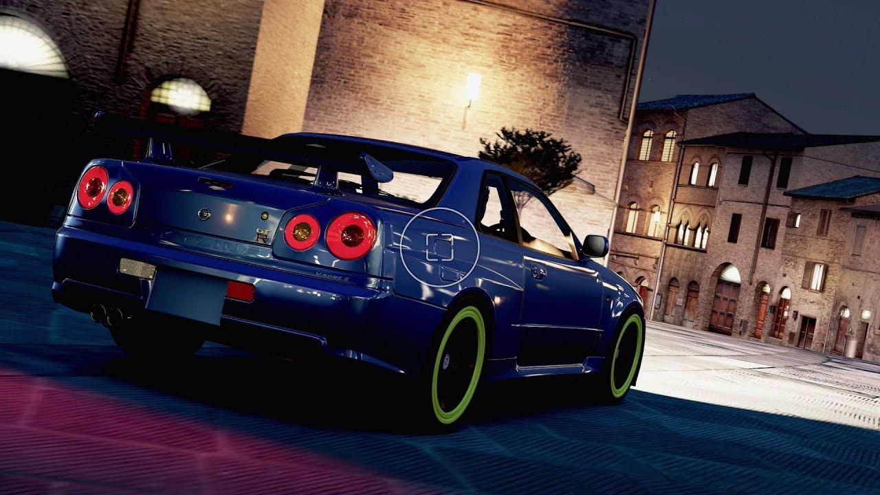 Paul Walker Blue Car Wallpaper Forza Horizon 2 Nissan Skyline R34 Drifting Compilation