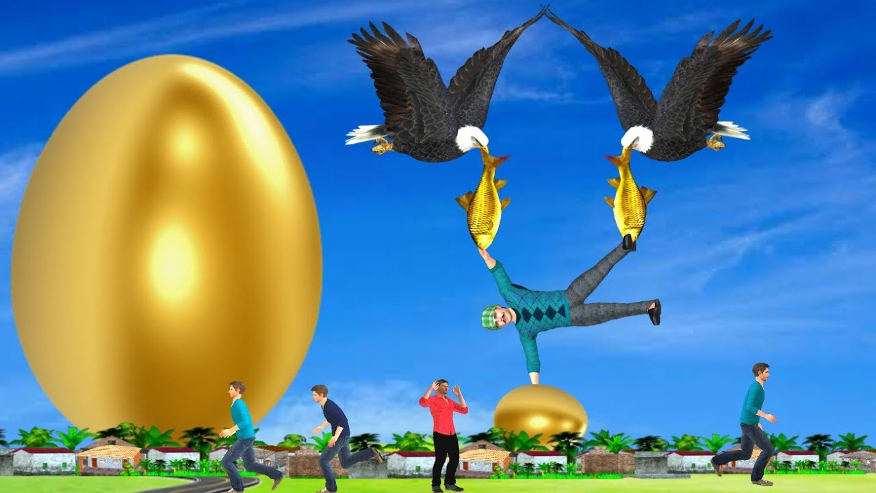 सोने का अंडा चील Kahani 3D Hindi Kahaniya Golden Egg Bed Time Stories हिंदी कहानिया