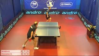 Настольный теннис матч 170718 17 Сироткин Андрей Черашев Дмитрий   за 3-4 место