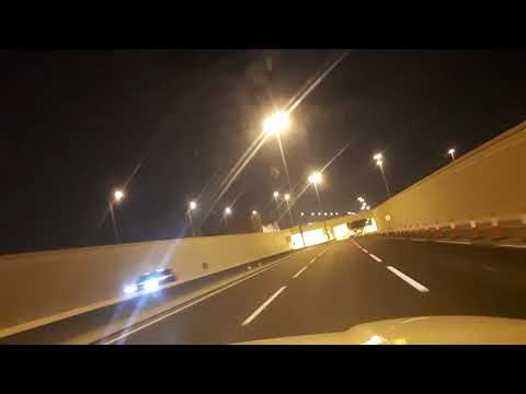 Mall of qatar underground parking exit to doha road