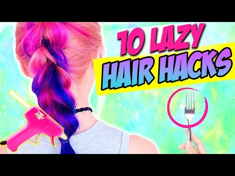 Thumbnail: 10 Hair HACKS every LAZY PERSON Should KNOW!!! AWESOME LIFE HACKS FOR HAIR!