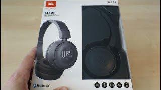 JBL T450BT Bluetooth Headphones quick unboxing