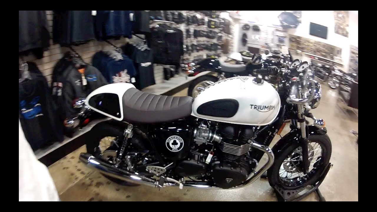 2015 Triumph Thruxton Ace Cafe Racer Walkaround And 2014 Demo Ride