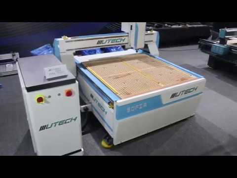 1313 cnc router machine working video sample wood clock