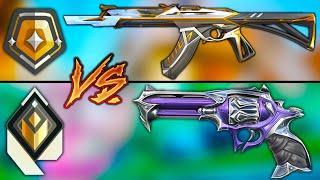 5 Gold Vandal VS 5 Radiant Sheriff - *CRAZY GAME!*