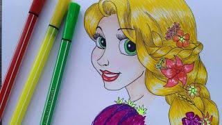 Rapunzel # speed drawing