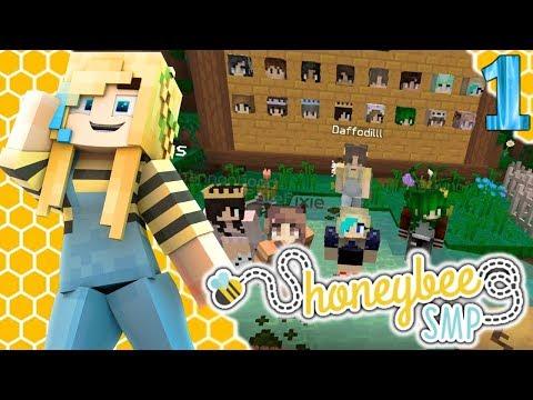 New BEE-tastic Adventure! - HoneyBee SMP Ep 1 - Modded SMP