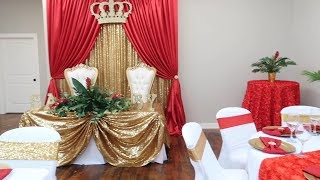 Royal Baby Themed Shower   Balloon Backdrop   Crown Deets