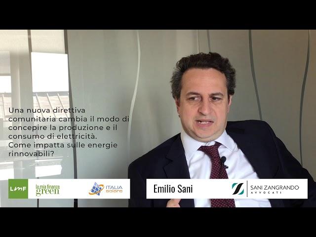 Italia Solare 2019 - PPA e autoconsumo - Emilio Sani (Sani Zangrando avvocati)
