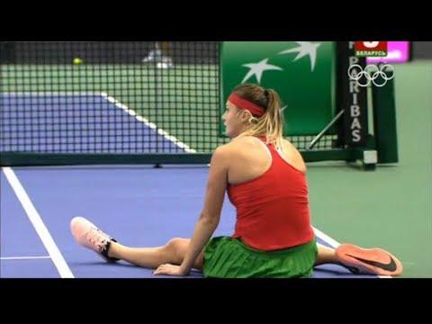 Fed Cup. Belarus - Germany. Sabalenka - Maria