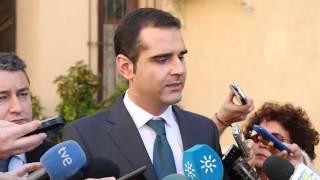 Visita del delegado del Gobierno en Andalucía, Antonio Sanz y reunión de la Junta Local de Seguridad