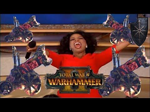 Chaos vs Dark Elves | YOU GET A HELLCANNON : Total War Warhammer 2