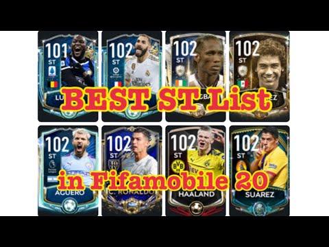 BEST ST(Striker) LIST In Fifamobile20 !