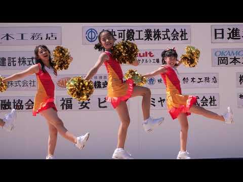 【4K】名古屋グランパス チアダンススクール➂「にっしん夢まつり2019」キッズダンス@2019年09月15日