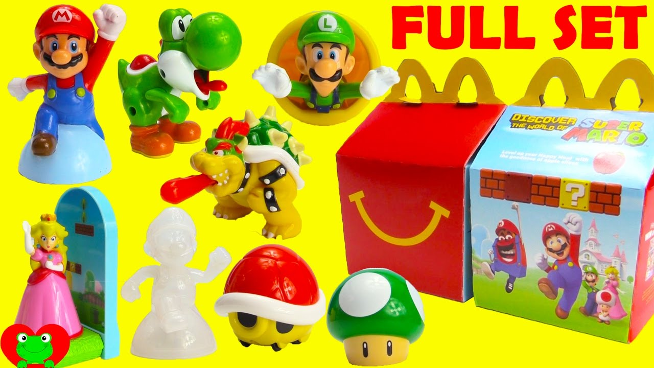 2017 Super Mario McDonald's Happy Meal Toys Full Set | Doovi