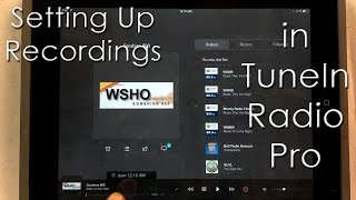 TuneIn Radio Pro - Setup recording in iOS