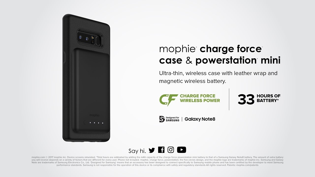 best loved dc054 e43e9 mophie charge force case & powerstation mini for Samsung Galaxy Note8