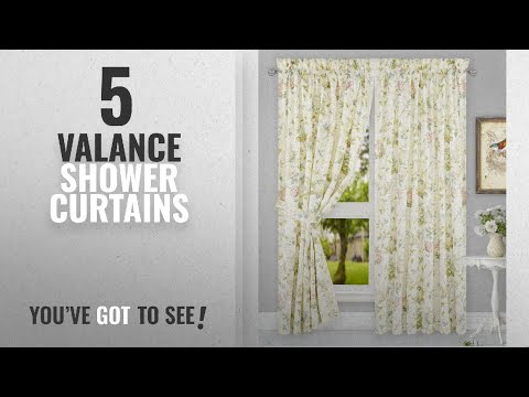 Top 10 Valance Shower Curtains [2018]: Simple Comfort Abigail Traditional Hydrangea Floral Print