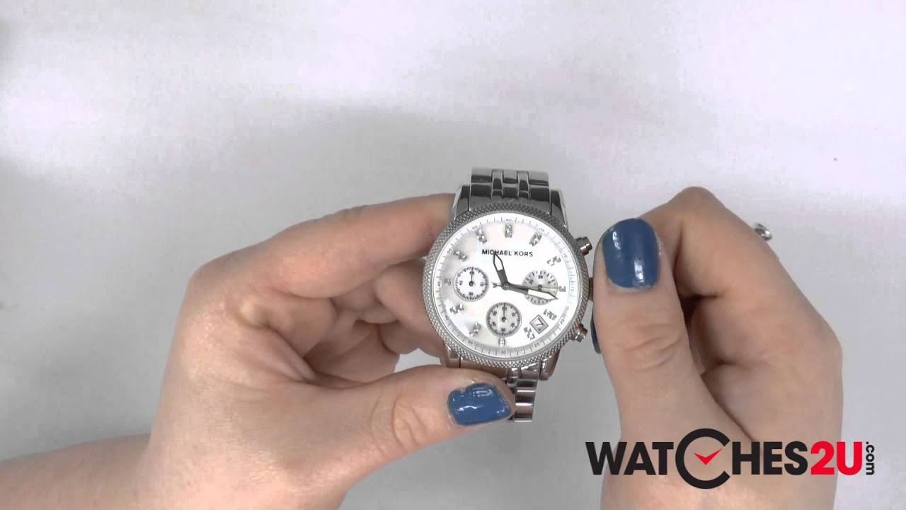 3a17ac7bb3a2 MK5020 Michael Kors Ladies Sport Chronograph Watch - YouTube
