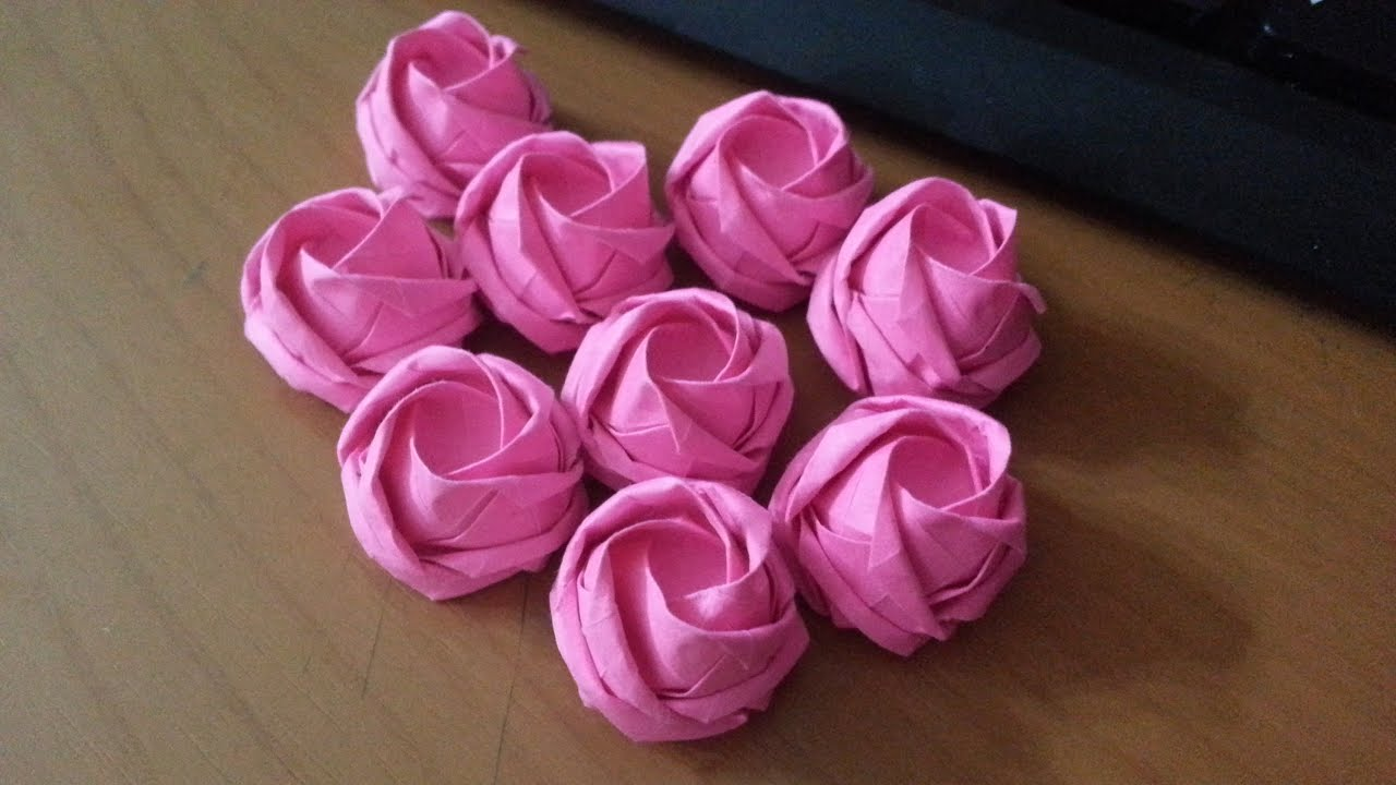3d Origami Flower Roses Gardening Flower And Vegetables
