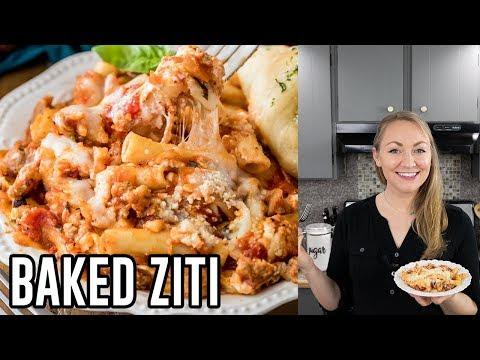 Saucy, Cheesy Baked Ziti Recipe