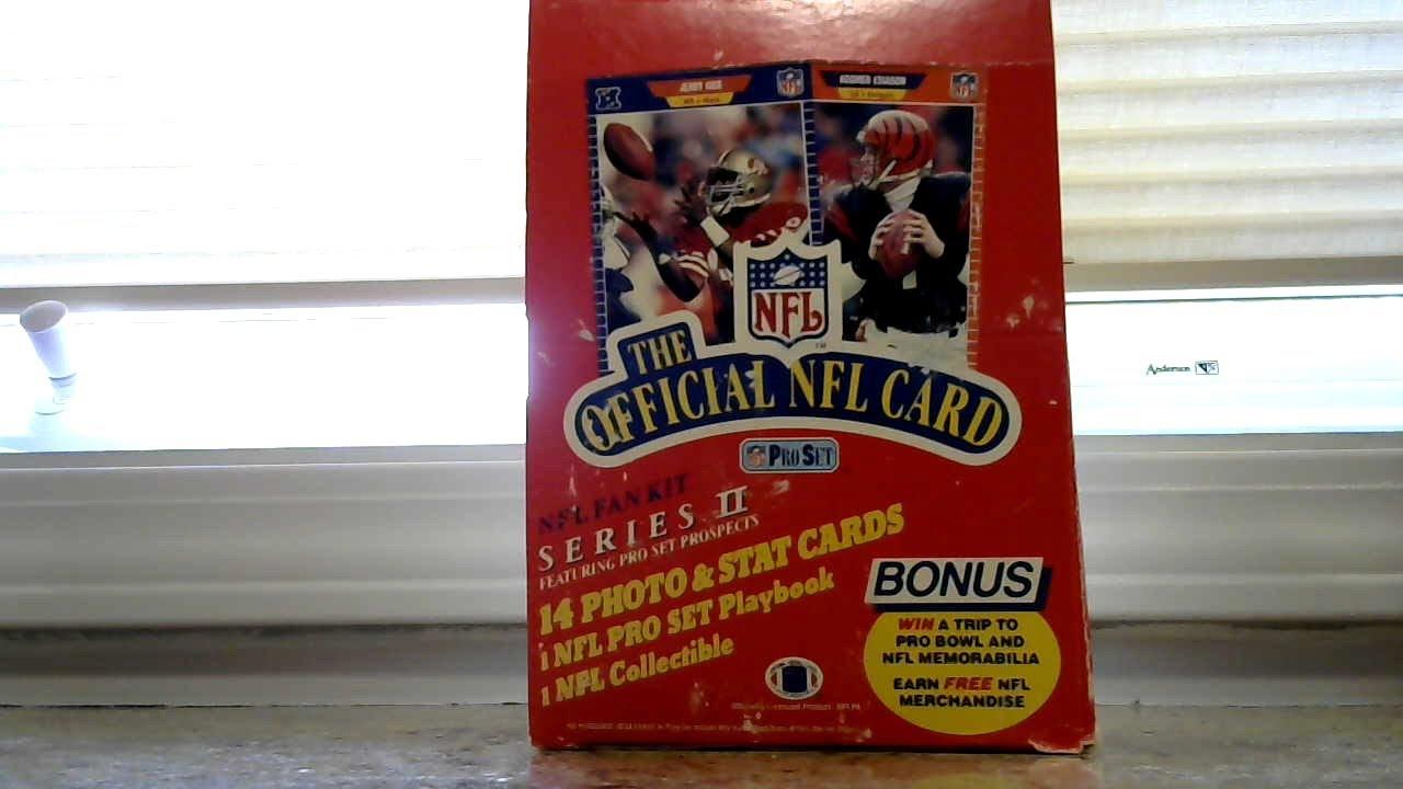 1989 Pro Set Football Series 2 Box Barry Sanders RC
