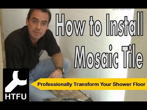 Mosaic Tiles How To Tile Your Shower Floor And How To Install Tiles