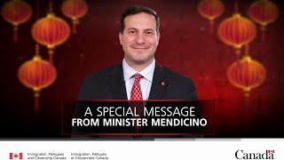 Chinese New Year greeting from Minister Mendicino