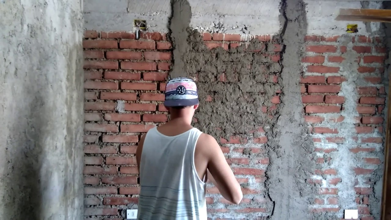 Como estucar una pared de ladrillo fiscal youtube - Como empapelar una pared ...