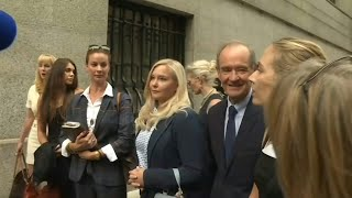 Victims Of Epstein Arrive At Court For Hearing | Afp