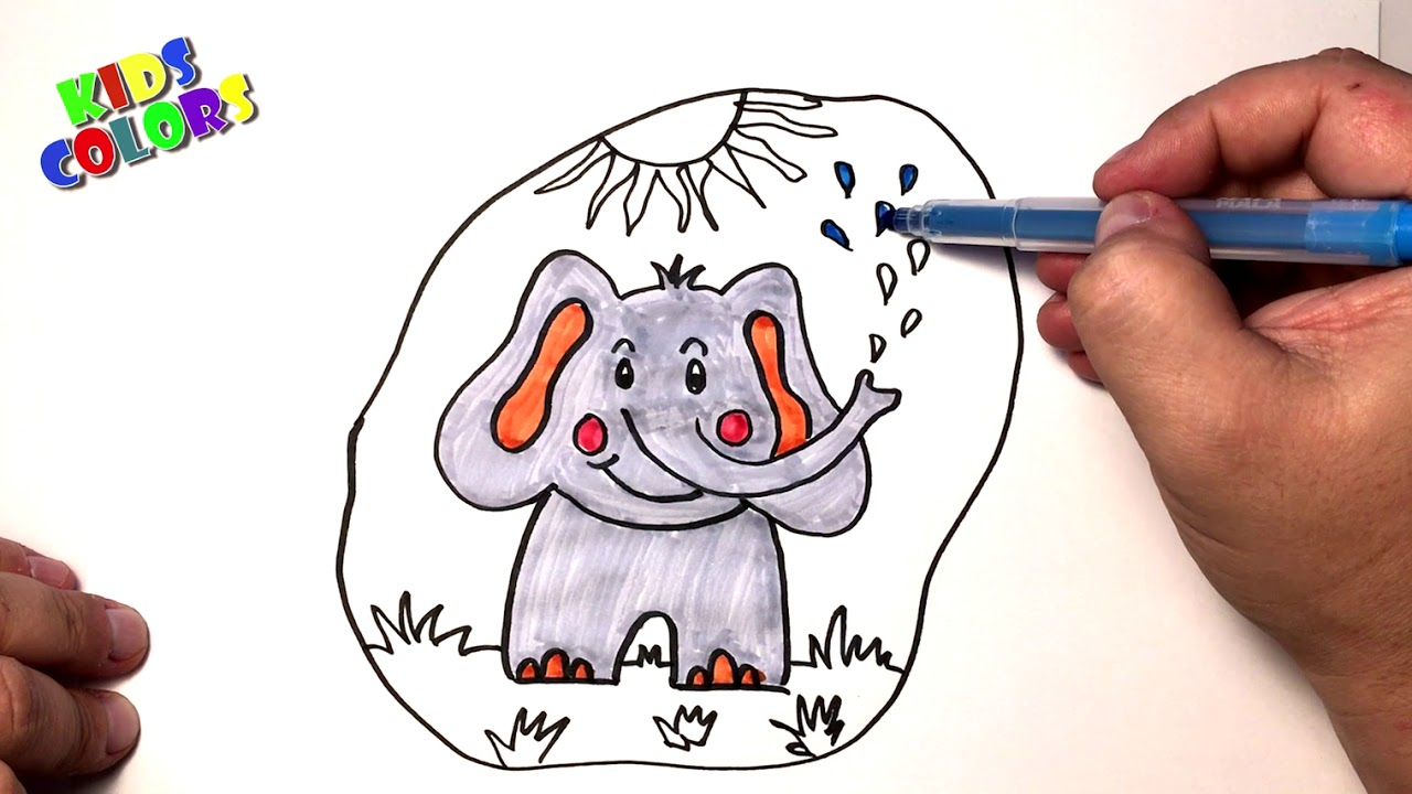 elephant coloring - dumbo the elephant coloring pages - YouTube