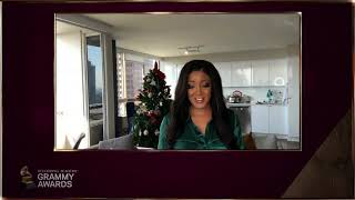 Mickey Guyton reads GRAMMY Nominations for Gospel, CCM, Roots & Spoken Word  | 2021 GRAMMYs