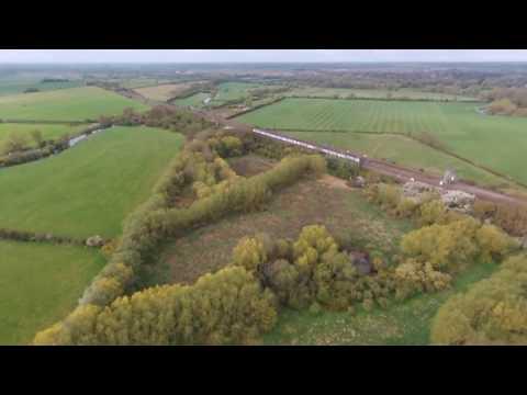 Trainspotting, Portholme Meadow, Huntingdon, Cambridgeshire