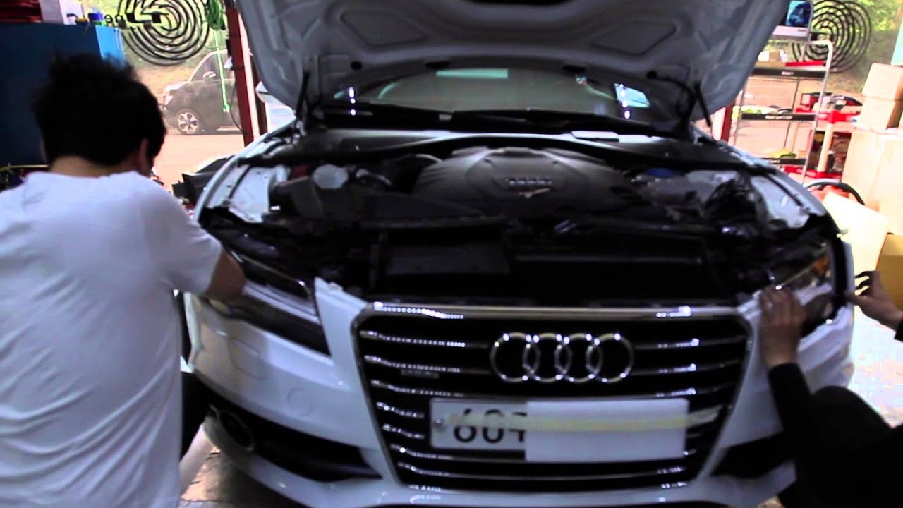 Led Headlight Bulb >> audi a7 full led headlight conversion - YouTube
