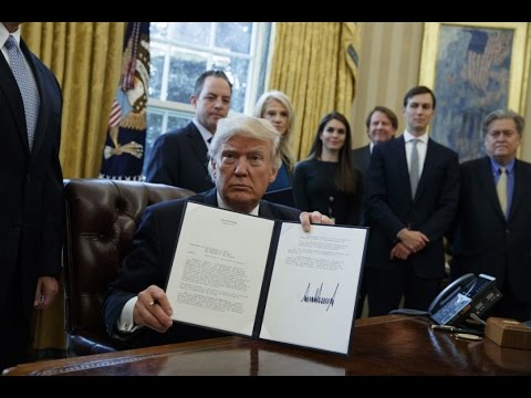 Breaking: Trump Signs Executive Order Reviving Keystone XL Pipeline