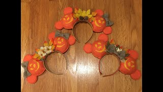 DIY Disney Mickey Pumpkin Ears