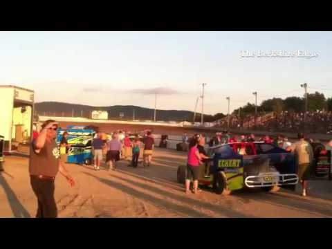 Lots of noise in the pit area at Lebanon Valley Speedway Saturday night