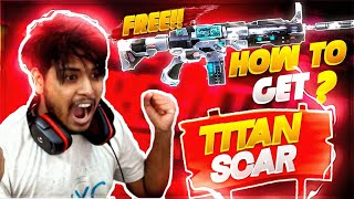 How To Win Titan Scar Giveaway | @Total Gaming  ! | Free Fire