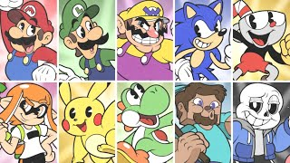 What If All Smash Ultimate Characters Were in Cuphead?