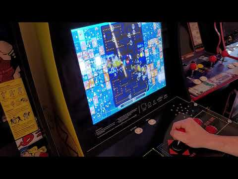 Playing Pac-Man 99 on an Arcade1Up cabinet from TechnoBilly