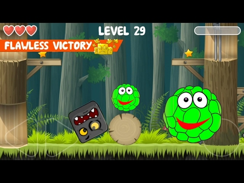 Red ball 4 Volume 2: GREEN Bilberry Complete game walkthrough with BOSSES killed