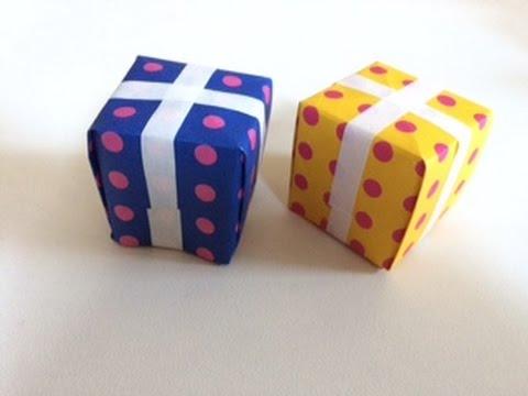 簡単 折り紙:折り紙 プレゼントボックス-youtube.com