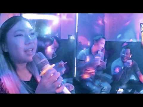 Emily singing Baby One More Time AMD ProCare karaoke Dec 28, 2017