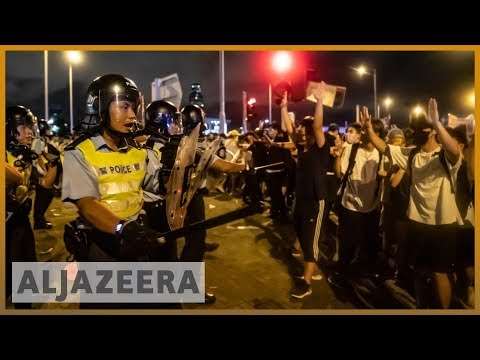 Hong Kong: Clashes after massive protest against extradition law